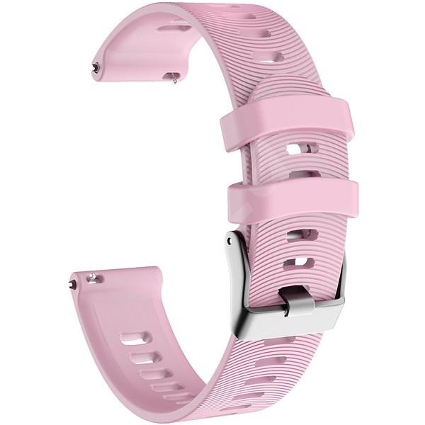 Eternico Garmin Quick Release 20 Silicone Band Steel Buckle růžový - Řemínek