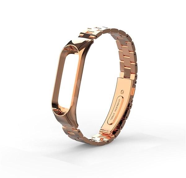 Eternico Mi Band 3 Steel růžovo zlatý - Řemínek