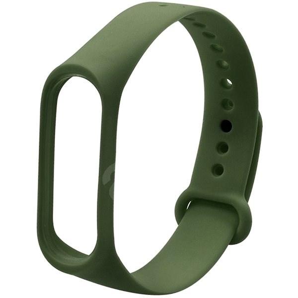Eternico Mi Band 3 / 4 Basic Olivovo zelený - Řemínek