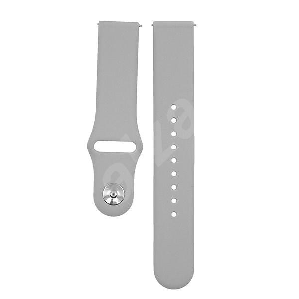 Eternico Samsung Quick Release 20 Silicone Band šedý - Řemínek