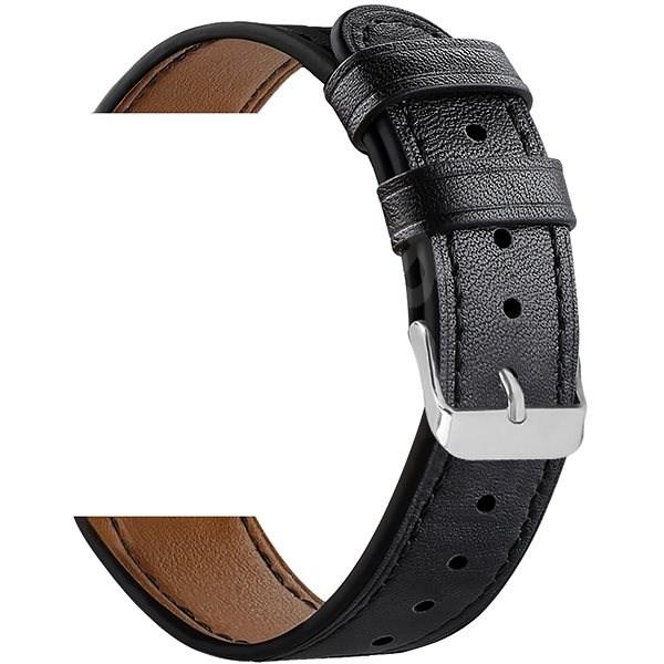 Eternico Samsung Quick Release 20 Leather Band černý - Řemínek