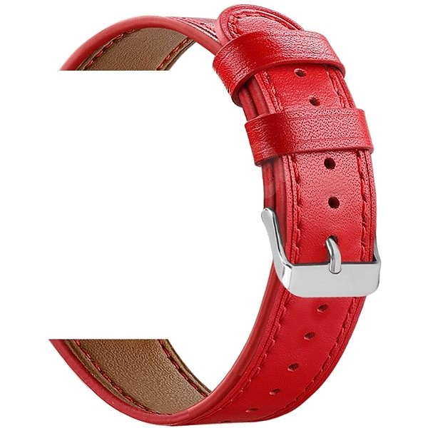 Eternico Samsung Quick Release 20 Leather Band červený - Řemínek
