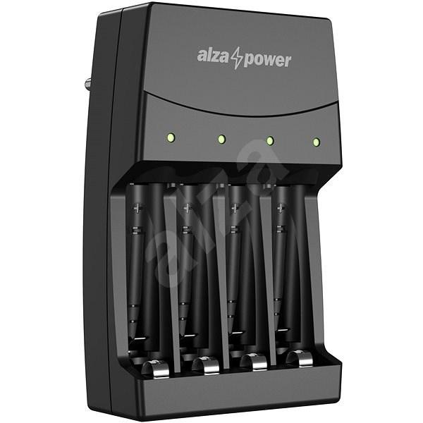 AlzaPower Quadro Charger AP-400B - Nabíječka akumulátorů