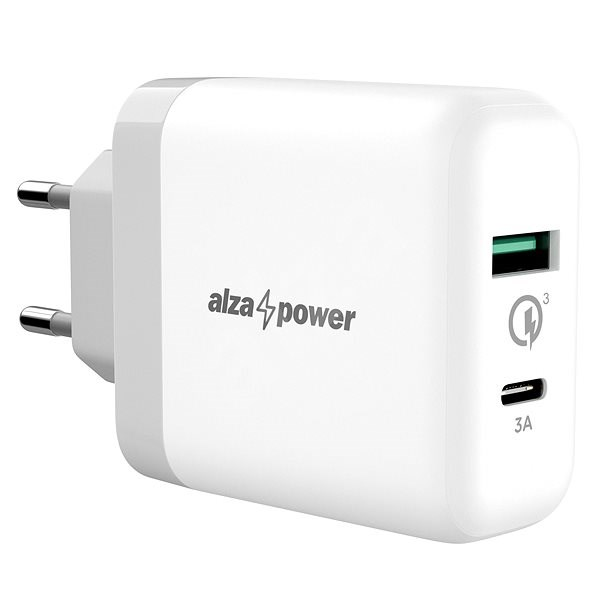 AlzaPower Q200C Quick Charge 3.0 White - Nabíječka