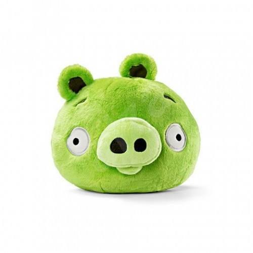 Rovio Angry Birds se zvukem 12.5cm Green Pig - Plyšová hračka