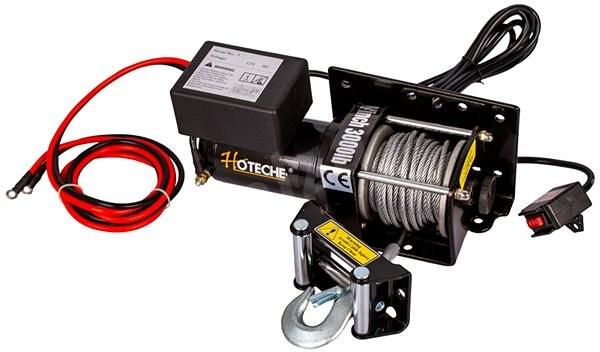 Hoteche Elektrický lanový naviják 1000 W/12 V, max. zatížení 1361 kg - HT690008 - Naviják