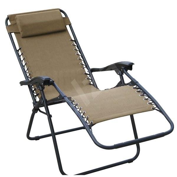 DIMENZA Relaxing Adjustable Lounger, Brown - Garden lounger