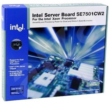 Intel SE7501CW2 Clearwater, iE7501, 4x DDR266 ECC, int. VGA, USB, LAN, GLAN, 2x sc604 533MHz, ATX - Základní deska