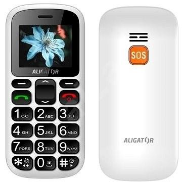 Aligator A321 Senior White - Mobilní telefon