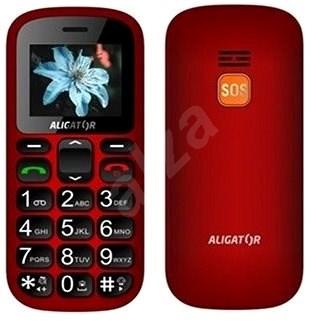 Aligator A321 Senior červeno-černý - Mobilní telefon