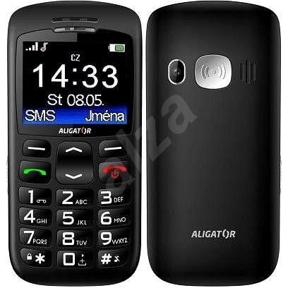 Aligator A670 Senior Black - Mobilní telefon