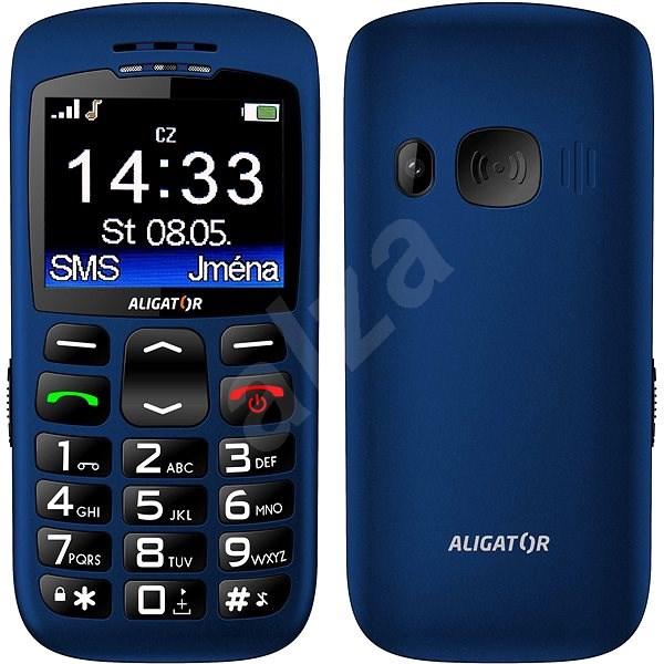 Aligator A670 Senior Blue - Mobilní telefon