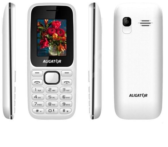 Aligator D200 Dual SIM bílo-černý - Mobilní telefon
