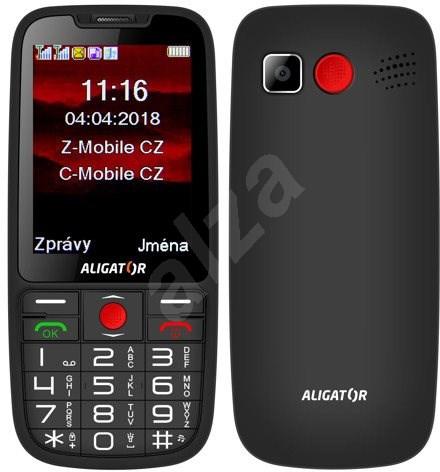 8f197ab22 ALIGATOR A890 Senior černá - Mobilní telefon | Alza.cz