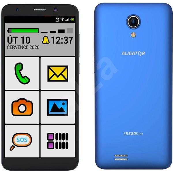 Aligator S5520 Senior, Blue - Mobile Phone