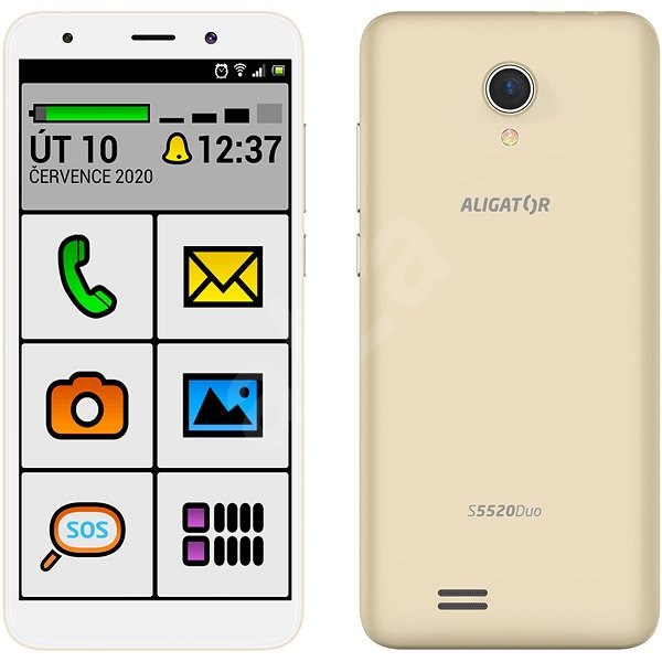 Aligator S5520 Senior, Gold - Mobile Phone