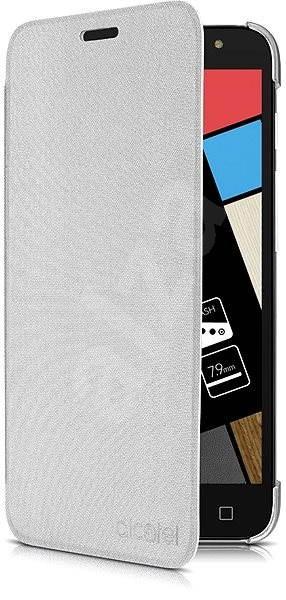 ALCATEL POP 4 Flip Case Metal Silver - Pouzdro na mobilní telefon