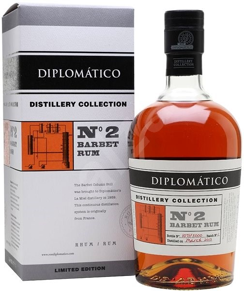 Diplomatico No. 2 Barbet Rum Distillery Collection 4Y 2013 700 Ml 47% L.E. / Rok Lahvování 2017 - Rum