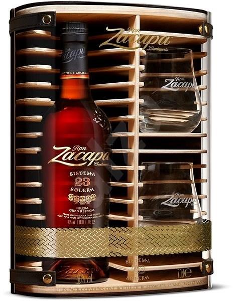 Zacapa Centenario 23Y 700 Ml 40% + 2X Sklo Dřevěný Box - Rum