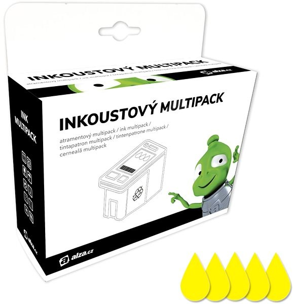 Alza T0714 Multipack žlutý 5ks pro tiskárny Epson - Alternativní inkoust
