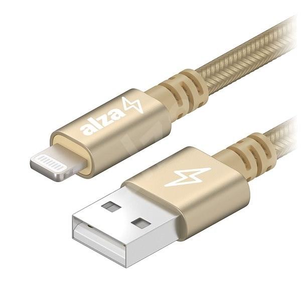 AlzaPower AluCore Lightning MFi (C89) 0.5m zlatý - Datový kabel