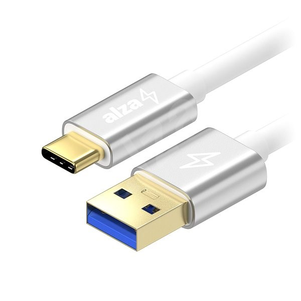 AlzaPower AluCore USB-C 3.2 Gen 1, 2m Silver - Datový kabel