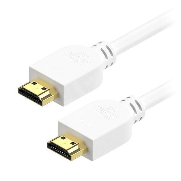 AlzaPower Premium HDMI 2.0 High Speed 4K 3m bílý - Video kabel