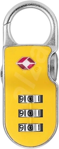 YALE VISACÍ ZÁMEK YTP2/26/216/1Y s TSA, žlutá - Zámek na zavazadla TSA