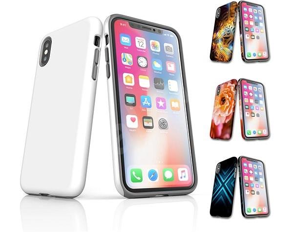 Skinzone vlastní styl Tough kryt pro APPLE iPhone X - Ochranný kryt Vlastní styl