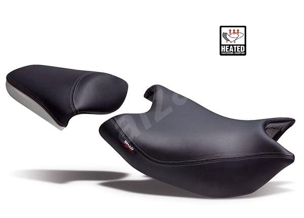 SHAD Komfortní sedlo vyhřívané černo/šedé, červené švy (bez loga) pro HONDA NC 750 X (2014-2016) - Sedlo na motorku