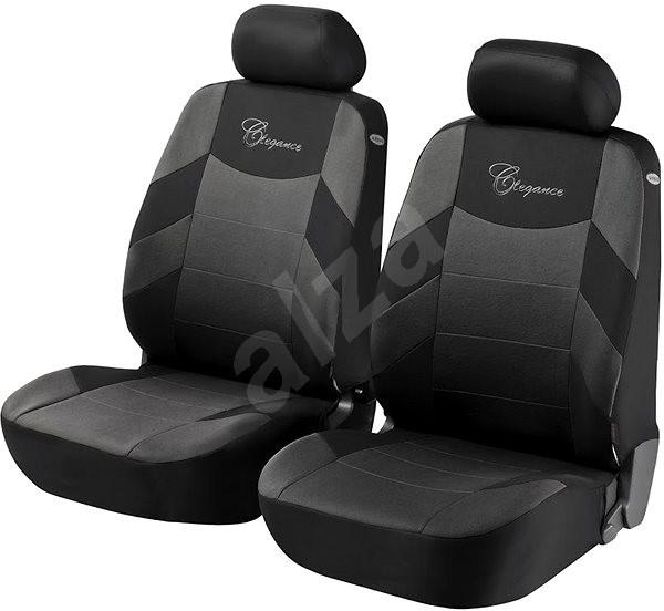 Walser potahy sedadel na přední sedačky Elegance černé - Autopotahy