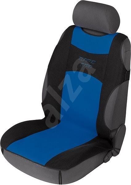0966e1b06902 Walser potahy sedadel na přední sedačky autotriko Tuning Star černo modré -  Autopotahy