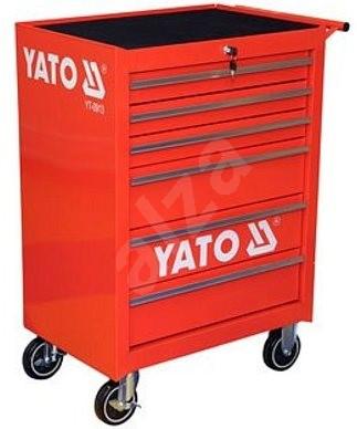 YATO Skříňka dílenská pojízdná 6 zásuvek červená - Skříň  0c8e1395f5