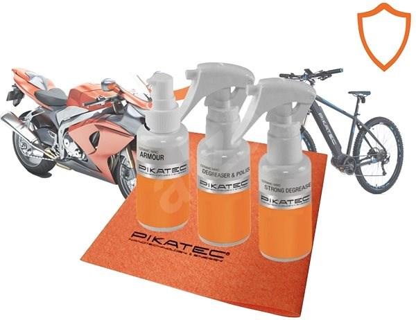 Pikatec Sada nanokosmetiky na motorky a kola Ceramic - Sada autokosmetiky
