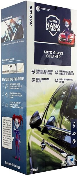 NANO GNP Glass & Mirrors Cleaner - Car Cosmetics Set