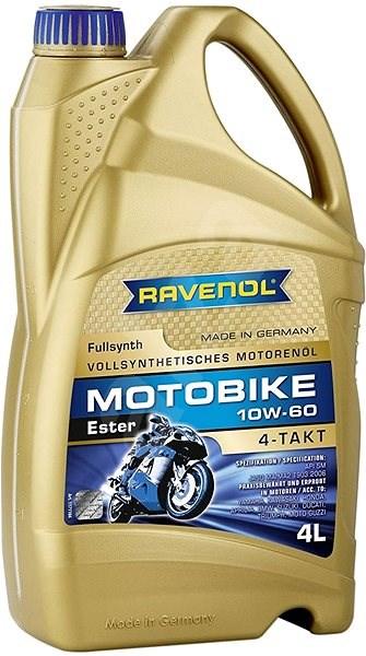 RAVENOL Motobike 4-T Ester 10W60; 4 L  - Motorový olej