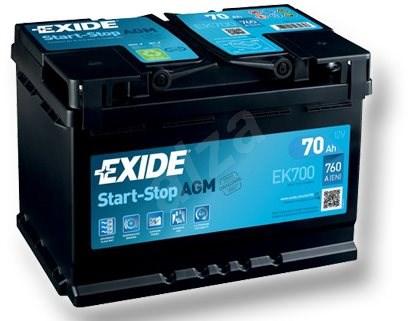 EXIDE START-STOP AGM 70Ah, 12V, EK700 - Car Battery