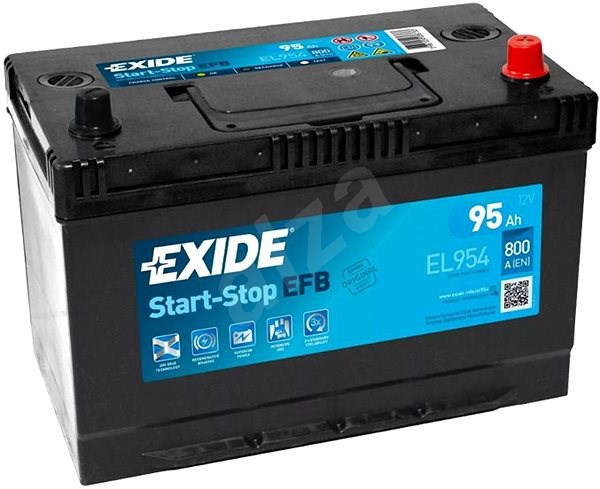 EXIDE START-STOP EFB 95Ah, 12V, EL954 - Car Battery