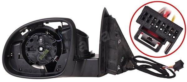 ACI 7607853Q Vnitřní část elektricky ovládaného a vyhřívaného zpětného zrcátka pro Škoda YETI - Zpětné zrcátko