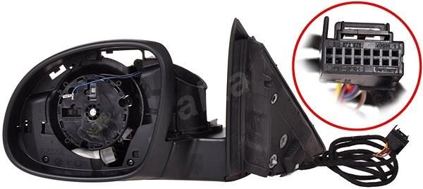 ACI 7607855Q Škoda Vnitřní část elektricky ovládaného a vyhřívan. zpětného zrcátka pro vozy s osvětl - Zpětné zrcátko