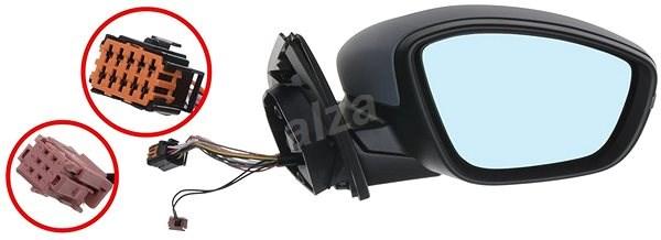 ACI 4081828 zpětné zrcátko pro Peugeot 308 - Zpětné zrcátko