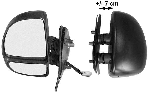 ACI 1747807 zpětné zrcátko pro Citroen JUMPER, Fiat DUCATO, Peugeot BOXER - Zpětné zrcátko