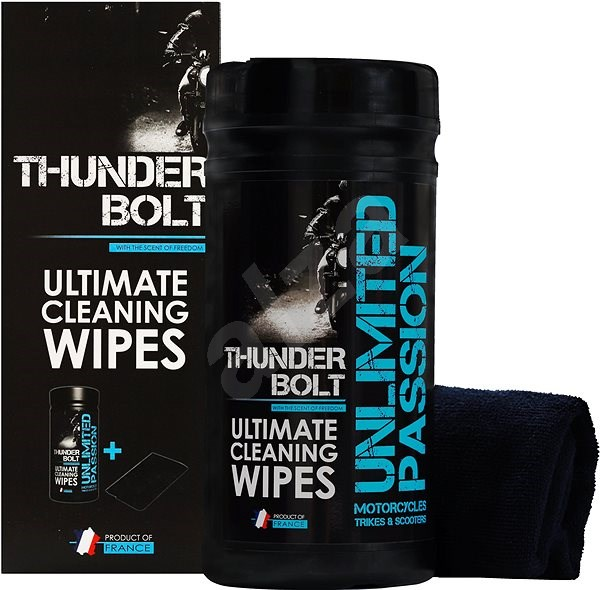 UNPASS THUNDERBOLT Cleaning and Protective Wipes 80pcs + Microfibre Cloth - Wet Wipes