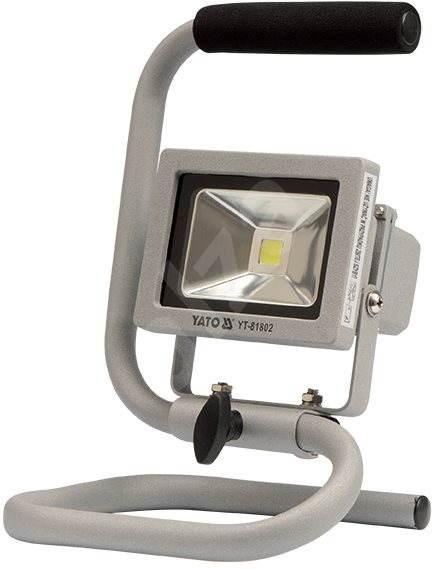 YATO Reflektor přenosný s vysoce svítivou COB LED, 10W, 700lm, IP65, 1,8m kabel - Svítilna