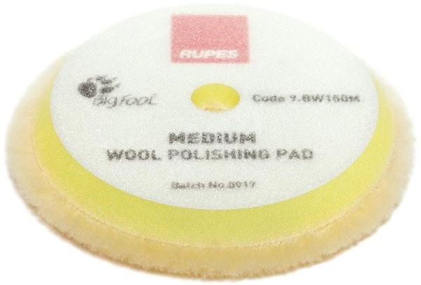 RUPES Yellow Wool Polishing Pad MEDIUM  - Lešticí kotouč