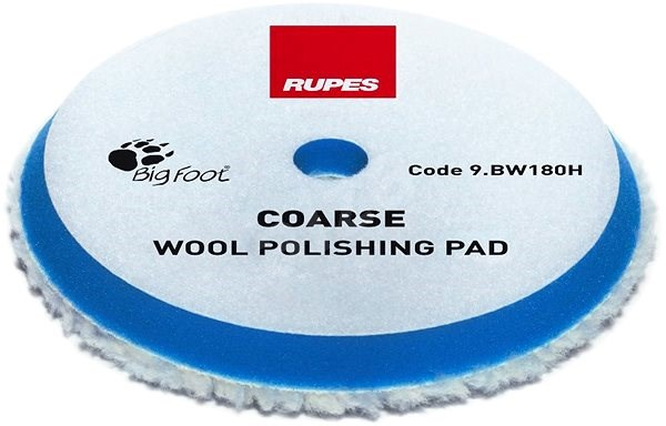 RUPES Blue Wool Polishing Pad COARSE  - Lešticí kotouč