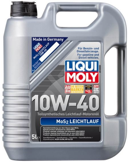 Liqui Moly Motorový olej MoS2 Leichtlauf 10W-40, 5 l - Motorový olej