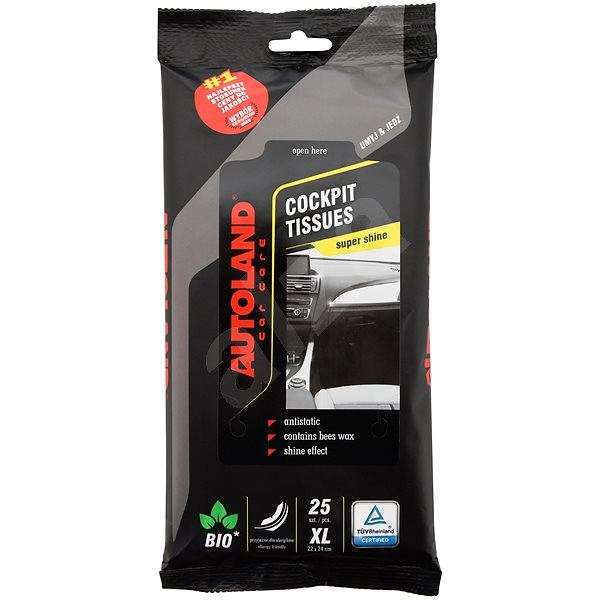 COMPASSS Wipes XL for Dashboard with Gloss NANO+ 25 pcs - Wet Wipes