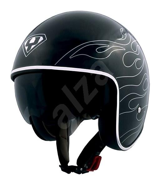 Yohe 859-91B, Black, Silver size XL - Motorbike helmet