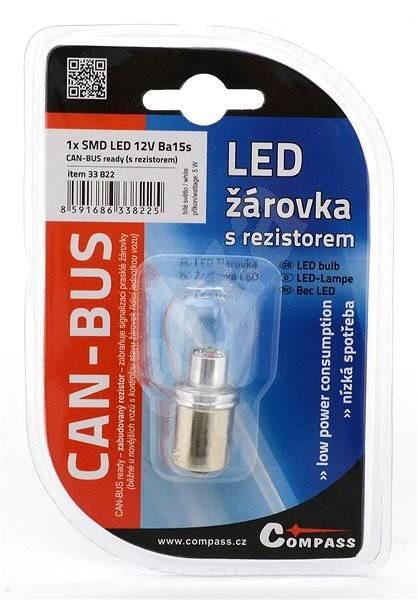 COMPASS 1 SMD LED 6chips 12V Ba15s  1ks - Autožárovka